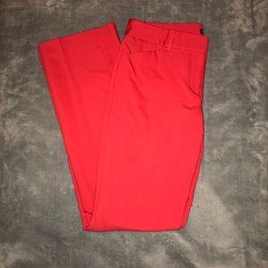 Express hot pink editor pants size 6R